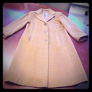 VINTAGE CASHMERE WOOL CAMEL TRENCH COAT